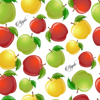 Nahtloses muster mit äpfeln