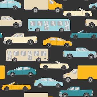 Nahtloses muster mit autos