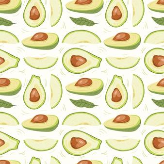 Nahtloses muster mit avocado