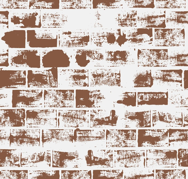 Nahtloses muster mit backsteinmauer