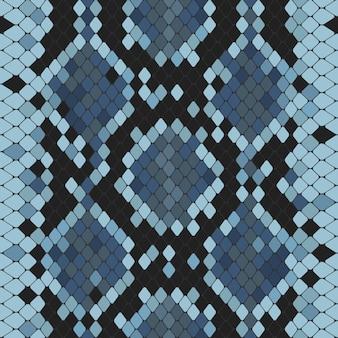Nahtloses muster mit blauem python-print