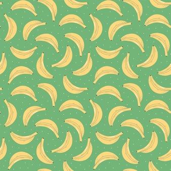 Nahtloses muster mit bunten früchten für textildesign. sommerhintergrund in hellen farben. von hand gezeichnete trendige vektorillustration.