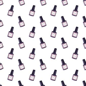 Nahtloses muster mit einer flasche nagellack