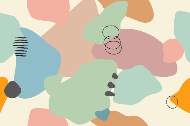 Nahtloses muster mit empfindlicher farbpalette der abstrakten formen des musters