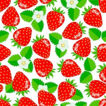 Nahtloses muster mit erdbeeren