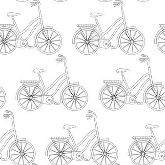 Nahtloses muster mit fahrrad