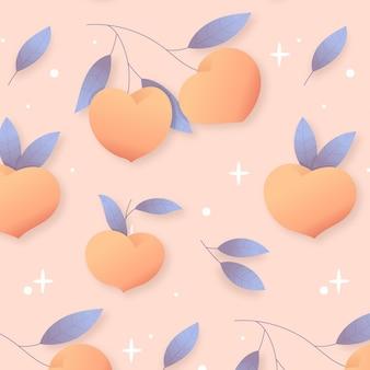 Nahtloses muster mit farbverlauf pfirsich