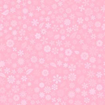 Nahtloses muster mit floraler textur von kleinen blumen in rosa farben