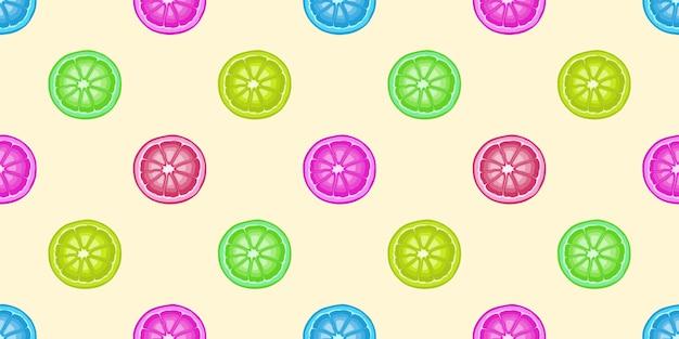 Nahtloses muster mit frucht voller farbe für den sommer