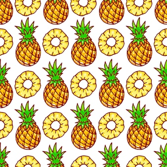 Nahtloses muster mit gelber ananas
