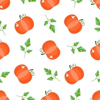 Nahtloses muster mit gemüse und obst helles design im flachen stil mit vitaminen und mineralstoffen