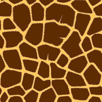 Nahtloses muster mit giraffenfleckenbeschaffenheit