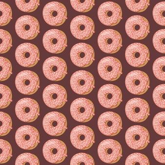 Nahtloses muster mit glasierten donuts.
