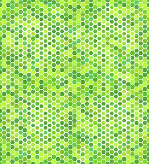 Nahtloses muster mit grünen sechsecken