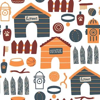Nahtloses muster mit hasen, kaninchen und frühlingsblumen für ostern auf gelbem hintergrund. vektordesign perfekt für stoffe, textilien, geschenkpapier, tapeten und druck.