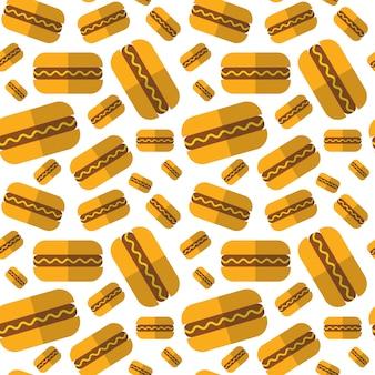 Nahtloses muster mit hotdogs