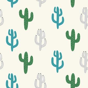 Nahtloses muster mit kaktus