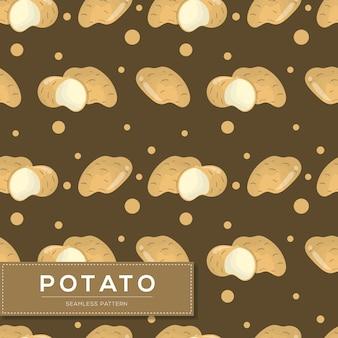 Nahtloses muster mit kartoffelgemüse