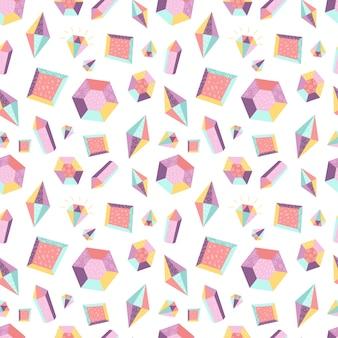 Nahtloses muster mit kristallen
