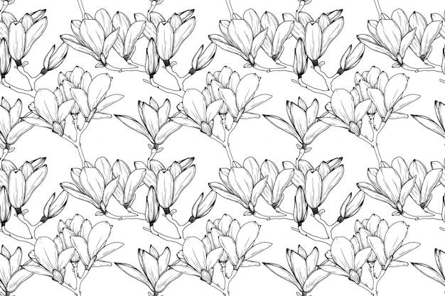 Nahtloses muster mit lilienblumen