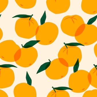 Nahtloses muster mit mandarinen