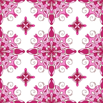 Nahtloses muster mit mehrfarbigem dekorativem mandala