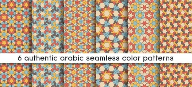 Nahtloses muster mit nahtlosem muster in authentischem arabischem styl