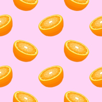 Nahtloses muster mit orangen