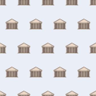 Nahtloses muster mit pantheon. endloser hintergrund. gut für postkarten, drucke, geschenkpapier und hintergründe. vektor.