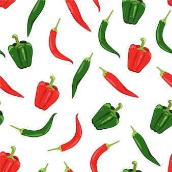 Nahtloses muster mit paprika
