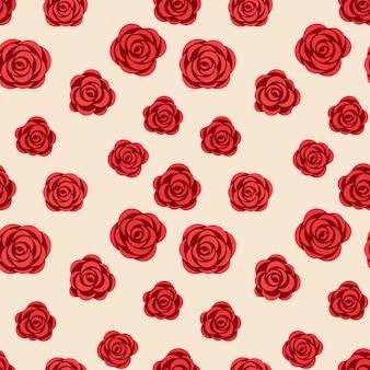 Nahtloses muster mit rosen für tapetenpapier oder anderes