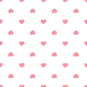 Nahtloses muster mit roten herzen. valentinstag