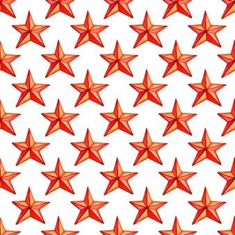 Nahtloses muster mit roter sternweihnachtsfeiertagsmuster-vektorillustration