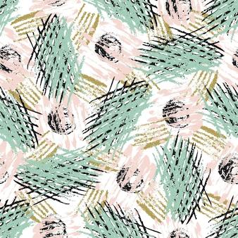 Nahtloses muster mit schmutzbeschaffenheiten. moderner mode-hipster-hintergrund