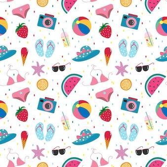 Nahtloses muster mit sommerferienelement