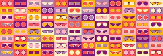 Nahtloses muster mit sonnenbrille