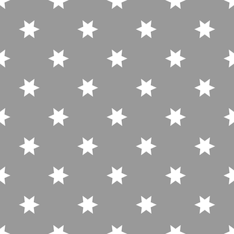 Nahtloses muster mit sternen auf grauer oberflächenvektorillustration dargestellt