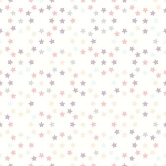Nahtloses muster mit sternen auf weißem hintergrund