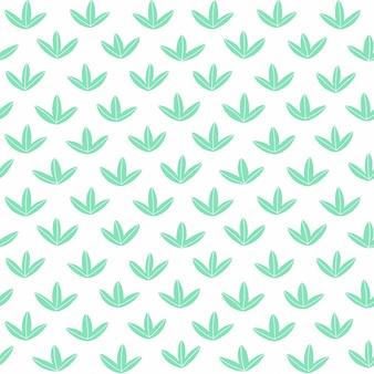 Nahtloses muster mit süßen blättern für textildesign einfacher hintergrund in hellen farben