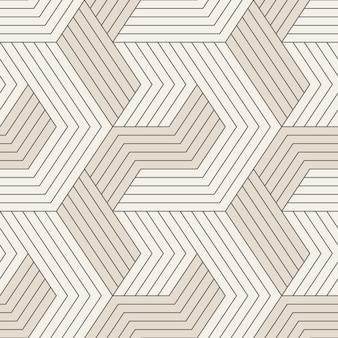 Nahtloses muster mit symmetrischen geometrischen linien.