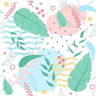 Nahtloses muster mit tropischen blättern
