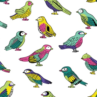 Nahtloses muster mit vögeln