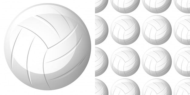 Nahtloses muster mit volleyball
