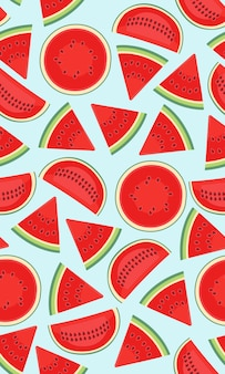 Nahtloses muster mit wassermelonen