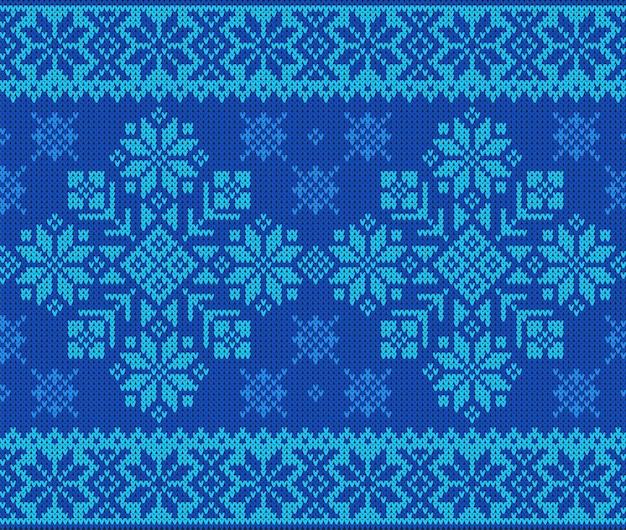 Nahtloses muster mit wollstrickstruktur zum thema winterferien