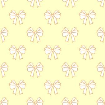 Nahtloses muster. pastellfarbene schleifen. festlicher hintergrund für grüße. flacher stil. vektor-illustration.