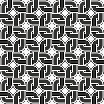 Nahtloses muster runder eckkettenrahmen mit quadratischer kreuzgeometrie