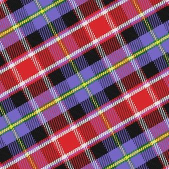 Nahtloses muster schottischer tartan colorado