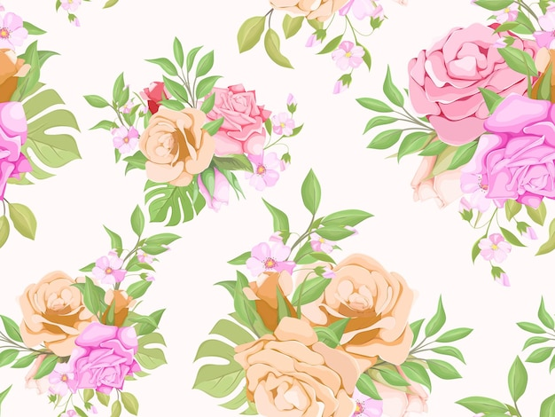 Nahtloses muster sommer floral