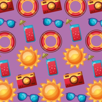 Nahtloses muster. sommerzeit-feiertagstapete